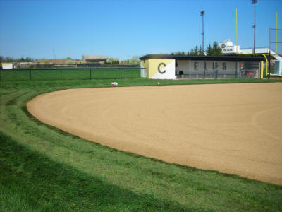 Centerville High School Softball Field - After - click to enlarge