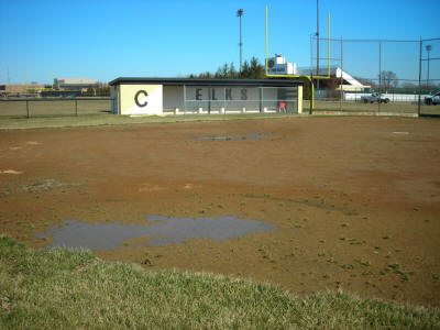Centerville High School Softball Field - Before - click to enlarge