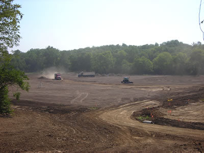 Mason Practice Football Fields - before